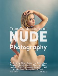 A step-by-step guide to recruiting beautiful models, lighting, photographing nudes, post-processing images, and maybe even getting paid to do it. Prior experience with nude models is not required to benefit from this how-to guide. This guide can be enjoyed by anyone, but is written for two main audiences: the accomplished photographer wanting insight from a peer, and the serious amateur wanting a guided introduction to the field.